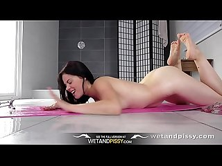 Wetandpissy - Naughty Ella Martin enjoys piss in mouth and toy play