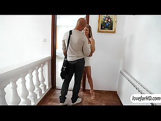 Blonde babes bella and her gorgeous girlfriend decides to share on cock