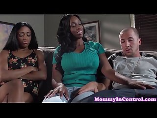 Bigass ebony milf codi bryant in threeway fun