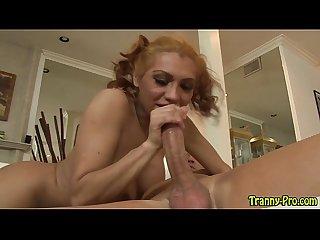 Tgirl hooker rides dick