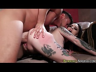 Emo slut gets cumshot