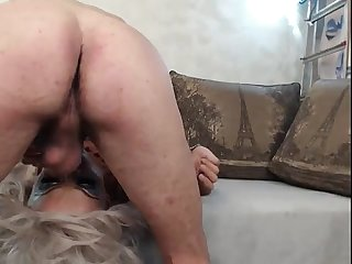 Submissive Amateur Tgirl Facefucked and Facial