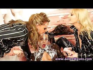Slutty wam lesbians get bukkake