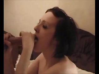 Amateur brunette on real homemade