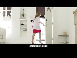 Hot redhead step sister blackmailed and fucked by spying step brother - STEPFUCKING.COM