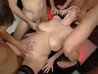 Big tits piss Gang bang part 1