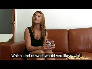 Sexy amateur chick alexandra analed with fake agent for money
