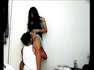 Desi girl licked in standing position by bf