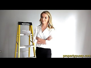 Young property manager beauty fucks her big dick Coworker