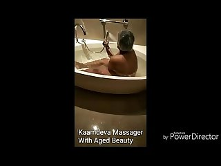 Kaamdeva Massager with client in Delhi hotel