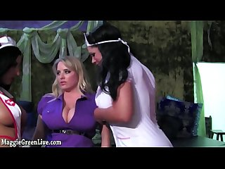 Busty Blonde Maggie Green Gets Pleasured by 2 Evil Nurses!