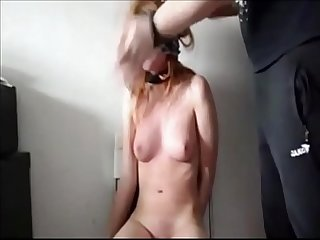 Hit the slave hard in her face