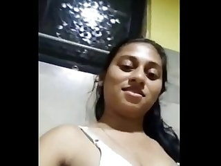 Desi College girl selfie fingering video with big tits