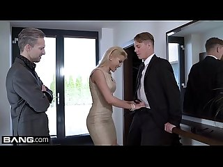 Glamkore cherry kiss fucks her husband and his assistant