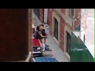 Chavita de prepa cogiendo en la calle con Su novio despues de salir de la escuela