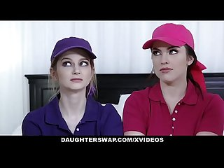 DaughterSwap - Cute Tennis Girls Fucked by Stepdads