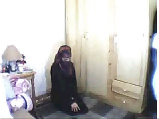 Arab girl praying then masturbating