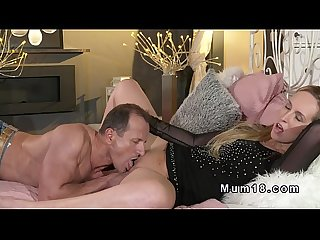 Shaved pussy blonde mature licked and banged