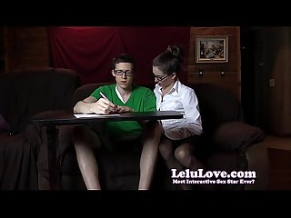 Amateur female tutor seduces sucks and fucks her student