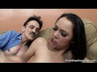 Kristina rose showing her blowjob and fucking skills to her horny stepdad
