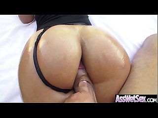 Hard anal nailed on cam for big wet oiled ass girl kelsi monroe movie 16