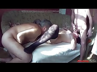 Mom sucks son while dad eats her pussy