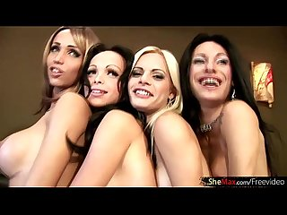 Latina shebabes enjoy wild foursome fucking in a hotel room