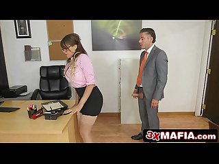 Bad Black Secretary Cassidy Banks Turned On By Her Boss' Big Dick