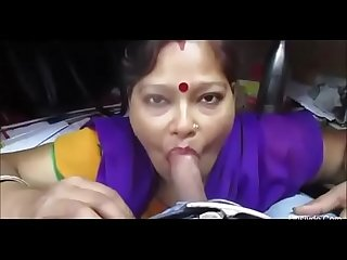 My indian aunty sucking my dick and cum in her mouth