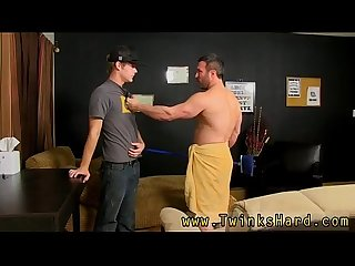 Gay boys sucking and cumming porn tube when the bulky boy catches