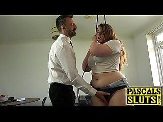 Kinky BBW Estella Bathory dominated with big cock