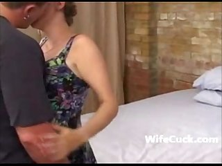 Cuckold husband films his wife taking it in all holes on wifecuck com