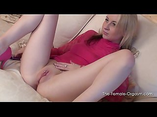 Hot horny blonde has 7 orgasms