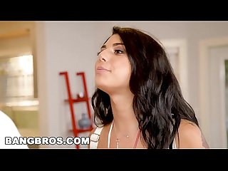 Bangbros Gina valentina locked out takes step brother S big black cock