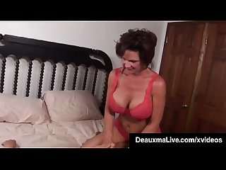 Busty milf deauxma squirts in magdelaine st michaels mouth