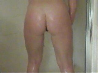 Steamy shower scene