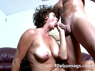 Divorced mature slut fucked by black guy