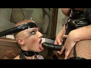 Fetish girls latex dressed banged by sex toys and huge cocks