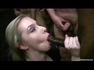 Grace harper takes sticky cum face