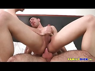 Gay Family Threesome Cumshots