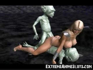 Aliens bang a 3d princess