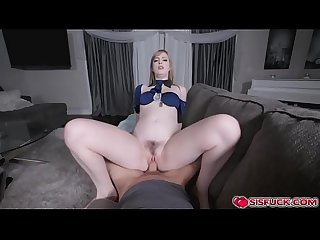 Dolly rides on stepbro's cock
