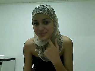 Slim little Arab teen plays for me on camera at exposedcams cf