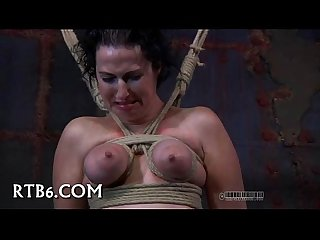 Sexy hot Girl in bondage action
