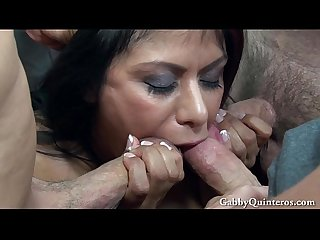 Meximilf gabby quinteros gets gangbanged