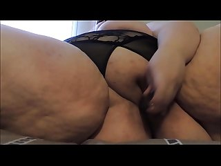 Teasing BBW FatStonerChick Gives herself a quick orgasm