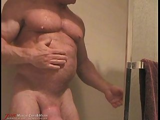 Tom lord shower and nipple teasing