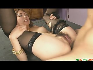 Pretty and horny redhead asian babe yuki