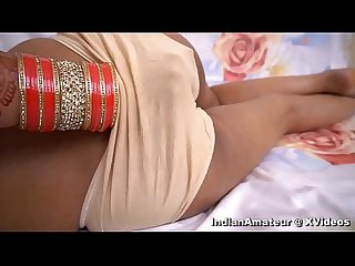 Indian Bhabhi enjoy wedding night with hindi audio