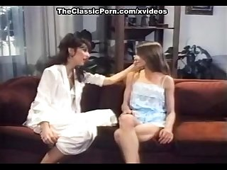 Angel West, Crystal Breeze, Jay Serling in retro porn with hot lesbian action